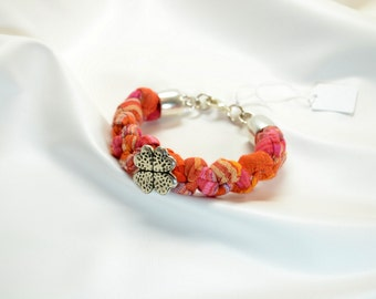 orange and pink fabric strap