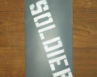"""8.25"""" Soldier Board Co Skateboard Deck"""