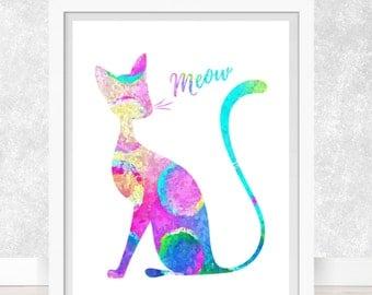 Cat #6  Art Print, Poster, Wall Art, Home Decor, Kids Wall Art, Play Room Wall Art, Nursery Wall Art, Archival print