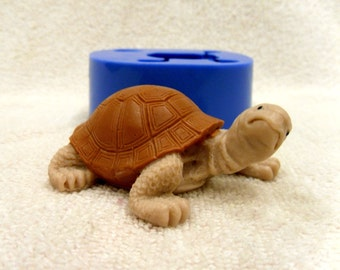 Tortoise 2 - silicone mold for soap and candles making mould molds soap mold turtle mold