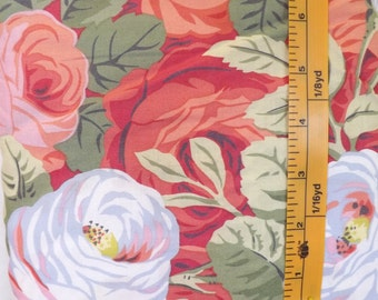 Westminster Fibers, Free Spirit, Rowan, Philip Jacobs, Rambling Rose, PJ34, large floral design quilting fabric