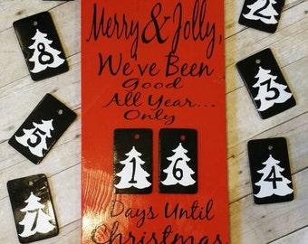 Christmas countdown - christmas decor - christmas countdown sign