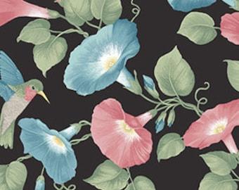 Hummingbird and Hollyhock Fabric by P&B