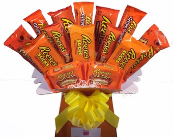 Reese's Peanut Butter Chocolate Bouquet - Sweet Hamper Tree Explosion - Perfect Gift