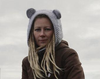 Hooded UNISEX Scarf/Crochet Hood/Wool Hood/Chunky Crochet Hood/Soft Woman Hooded Scarf/Cowl Winter Accesory
