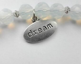 White Bead Bracelet 'Dream'
