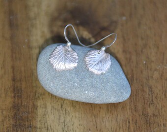 Leaf Imprinted Earrings