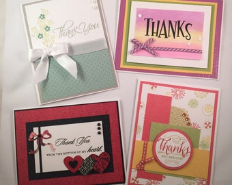 Handmade Thank You Cards, Thank you Cards, Thank You Card assortment, Close to My Heart Thank You cards