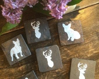 Hand Painted Slate Coasters