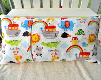 CLEARANCE SALE - Lil Treasure Pocket Cuddle Pillow, Noah's Ark, 15X8, Child's Pillow, Car Pillow, Play Pillow