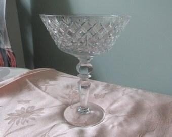 Vintage Crystal Compote, Candy Dish,Fruit Bowl,Decorative Piece,on Pedestal