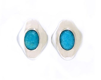 Solid Sterling Silver and turquoise earrings