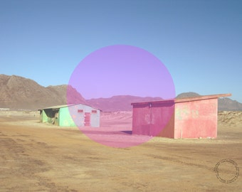 Poster Print // Art Print // landscape // modern art wall decoration // South Africa street desert