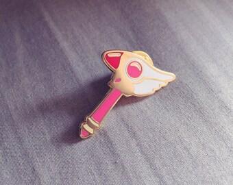 Cardcaptor Sakura Sealing Staff Hard Enamel Lapel Pin