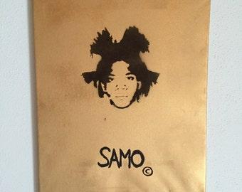 Jean-Michel Basquiat Stencil Graffiti 40 x 50 cm