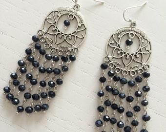 Round chandelier earrings