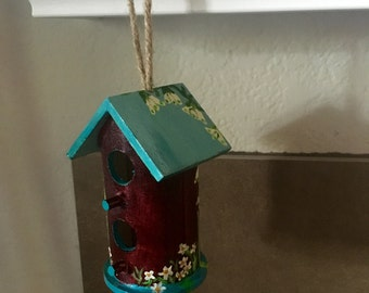 Mini Birdhouse Ornament