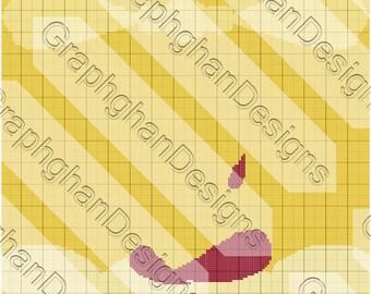 Princess Belle Dress Graphghan Pattern - Graph Pattern