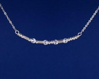 Faith Morse Code Necklace -Inspirational Necklace - Morse Code Necklace - Give God your weakness Necklace - Handmade