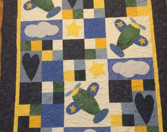 Airplane Quilt Etsy
