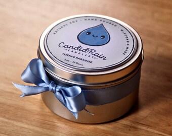 Yoshi's Paradise - 8 oz natural soy tin candle - Super Mario - CandidRain Candlery