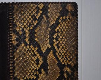 Real Vintage Python Snake Skin Bifold Wallet