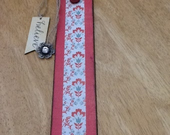 "9"" handmade bookmark with embellishments"