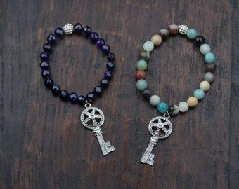 Jaya Charm Bracelet - Key Charm