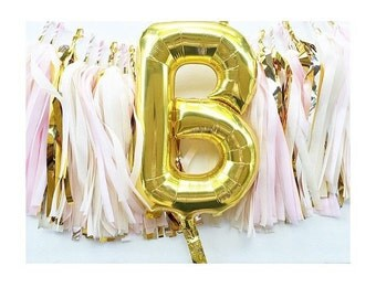 Balloon tassel garland!