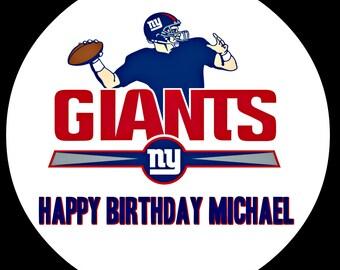 Ny Giants Edible Cake Topper