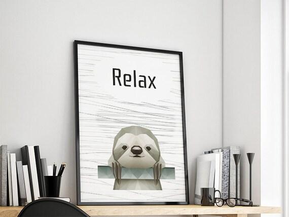 Subdivisional sloth gift family art print, fine art print