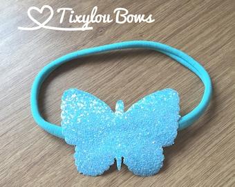 Handmade glitter butterfly headband