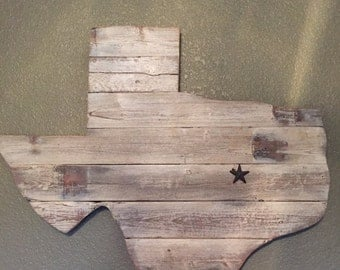 Texas distressed wall hanging