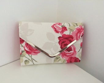 Handmade clutch bag, floral
