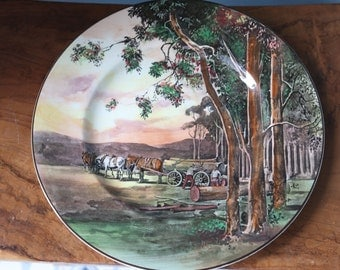 SALE  Large Royal Doulton Plate Loggers At Work D.5366 Rare