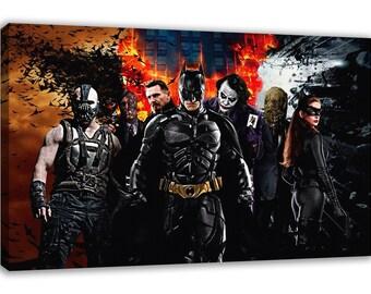 BATMAN BANE JOKER The Dark Knight Origins Canvas Wall Art
