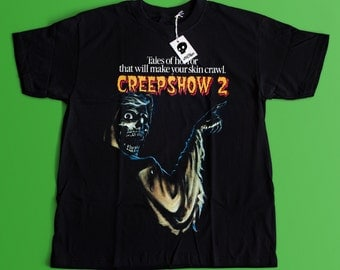 Creepshow 2 Movie T-shirt - Horror Fan T-shirt - Classic 80's Horror Movie And Cult T-shirt Skeleton Shirt