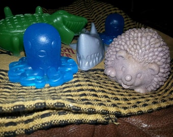 Bath toy //kids// soap// hedgehog //all natural// organic //children's soap