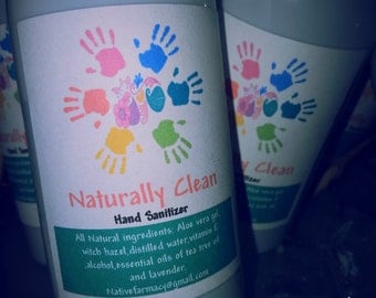 naturally clean hand sanitizer. waterless hand cleaner all natural