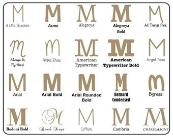 "Wooden Letter ""M"" Capital  - Unfinished, Unpainted -- Perfect for Crafts, DIY, Nursery, Kids Rooms, Weddings (MDF)"