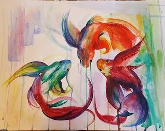 Watercolour Tropical Fish -Original