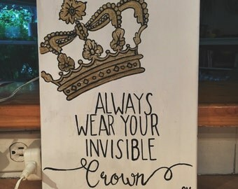 Crown Quote Canvas Painting