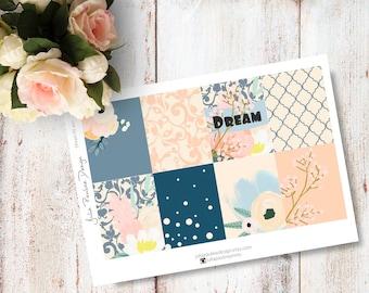 Planner Stickers for the vertical Erin Condren Life Planner - Dream Kit Full Boxes Sheet