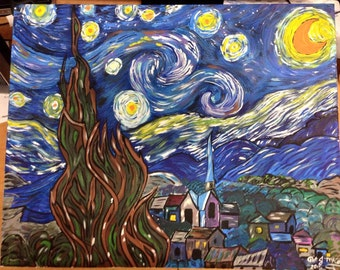 Starry Night Inspired by Van Gogh