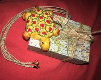 Yellow Turtle Necklace
