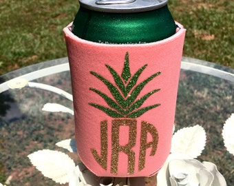 Pineapple Can Cooler Monogram