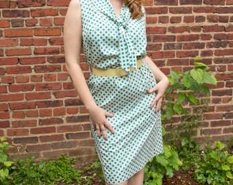 1960's Polka-dot RockABilly Wiggle Dress
