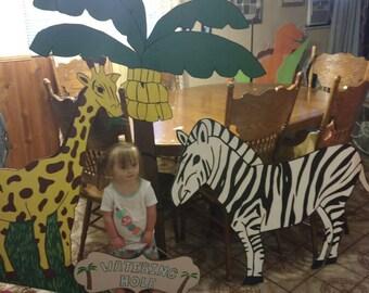 Zebra,giraffe, monkey