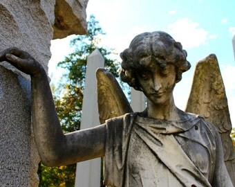 Cemetery Angel - Hollywood Cemetery (Richmond, VA) - Color Photographic Print - Cemeteries, Graveyards, Angel, Tomb, Monument, Cemetery