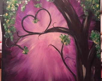 Entwined (Purple) 16x20